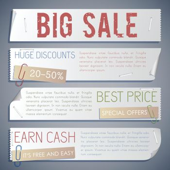 Advertising Sale Horizontal Banners