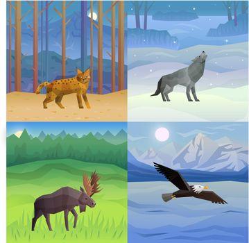 Animals Background Set