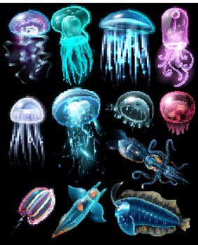 Underwater Animals Icon Set