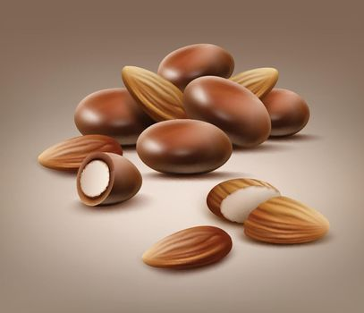 Handful of almond nuts