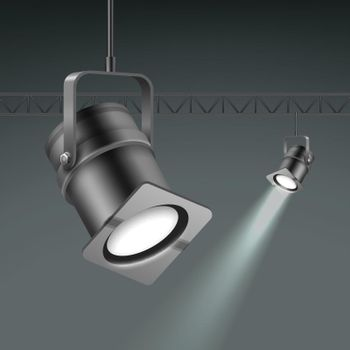 Ceiling illuminated spotlights