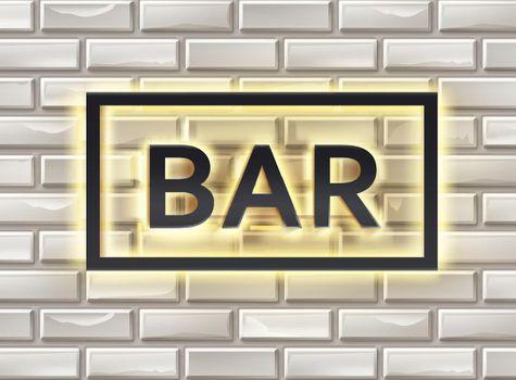 Illuminated bar signboard