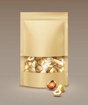 Bag full of hazelnuts