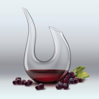 Decanter and grape
