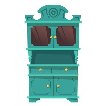 Vintage kitchen cupboard in baroque style