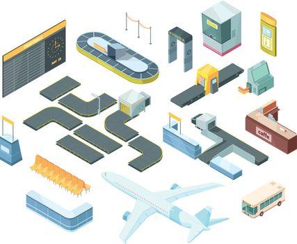 Airport Isometric Set