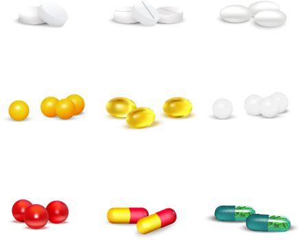 3D Pills Set