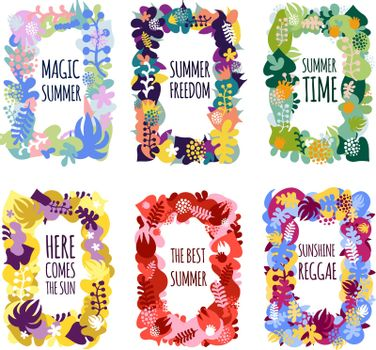 Abstract Floral Frames