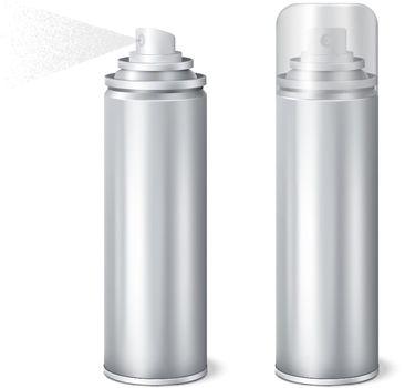 Aluminium Spray Cans Realistic Set