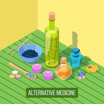 Alternative Medicine Isometric Composition