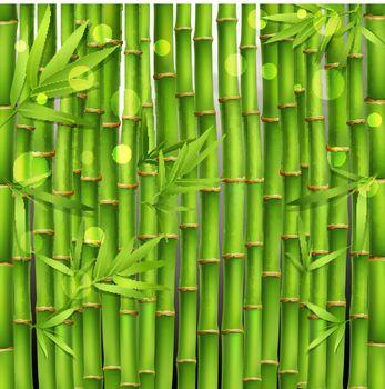 Bamboo Oriental Seamless Pattern