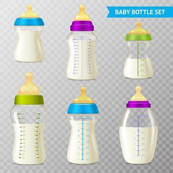 Baby Bottles Transparent Set