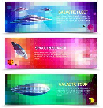 Alien Spaceship Horizontal Banners