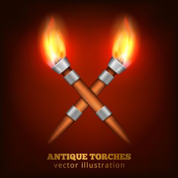 Antique Torches Realistic Background