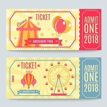 Amusement Park Tickets Set
