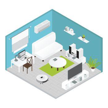 Isometrics Living Room Concept