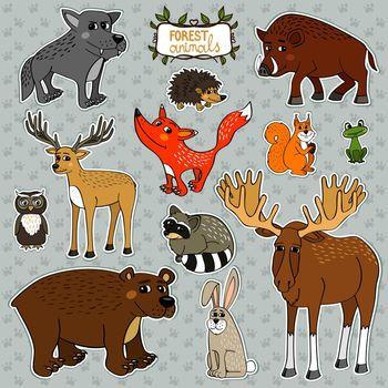 vector animals owl deer fox