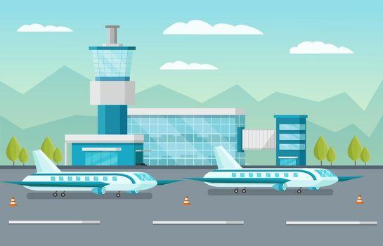 Airport Orthogonal Illustration