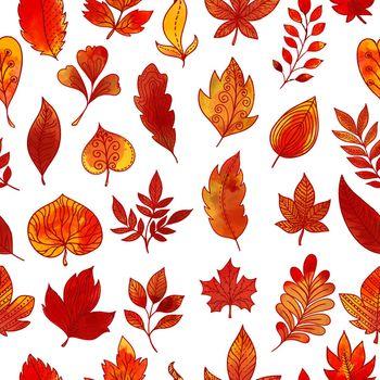 Autumn Foliage Seamless Pattern