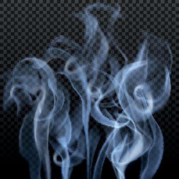 Abstract Gray Smoke Background
