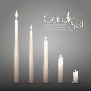 Aromatic Burning Candles Animation Set