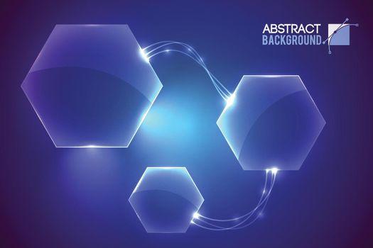 Hexagon System Futuristic Background