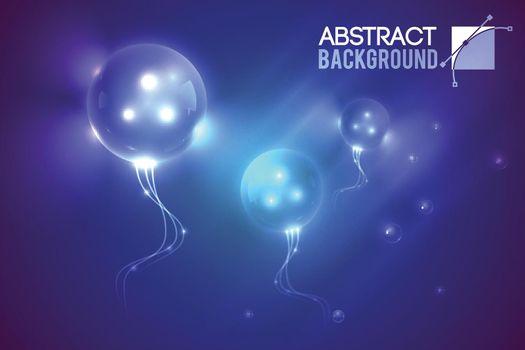 Luminescent Futuristic Balloons Background