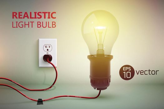 Incandescent Electric Lamp Background