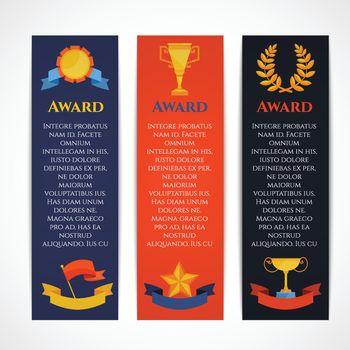 Award banner set