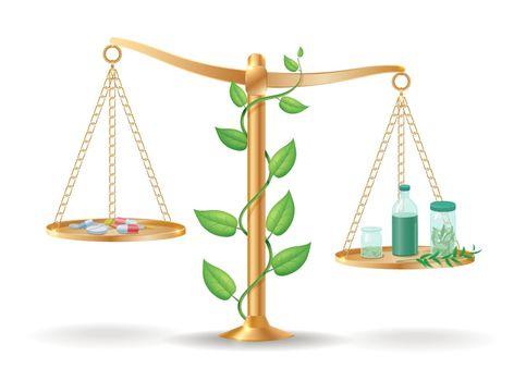 Alternative Medicine Libra Balance Concept