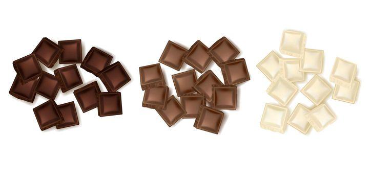 Various Chocolate Slices Set