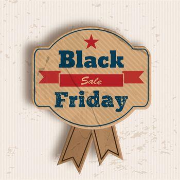 Grunge Badge For Black Friday Sale