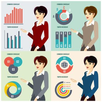 Business Woman Presenting Proposal
