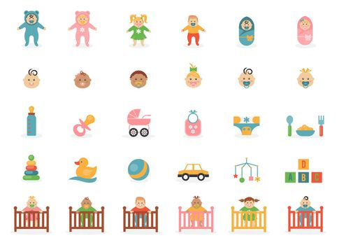 Babe icons for greetings card