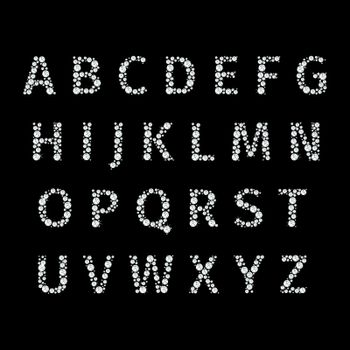 Vector alphabet with diamonds letters