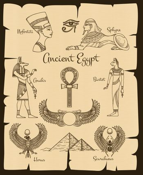 Ancient Egypt vector symbols