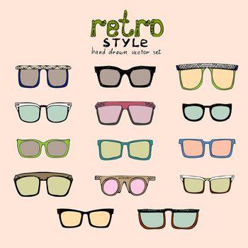 hipster retro glasses