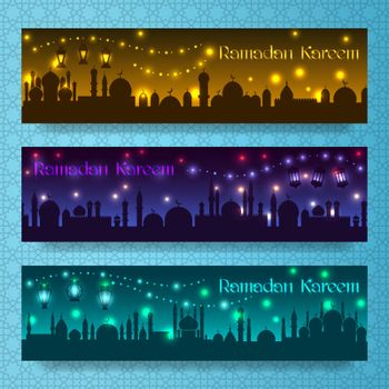 Ramadan kareem banners