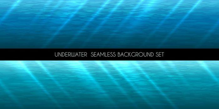 Underwater seamless background vector illustration