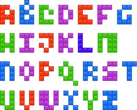 Plastic constructor alphabet