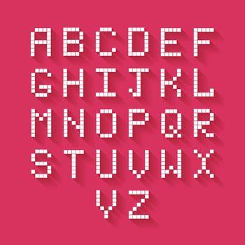 Flat Pixel Alphabet
