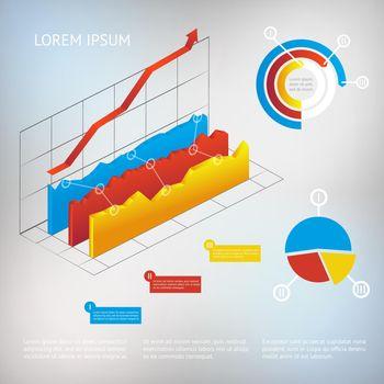vector graph infographic element