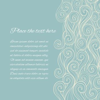 Sea Wave background with copyspace