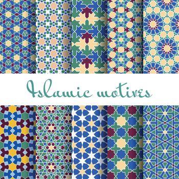 Arab spring seamless pattern set