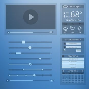 UI transparency flat design of web elements