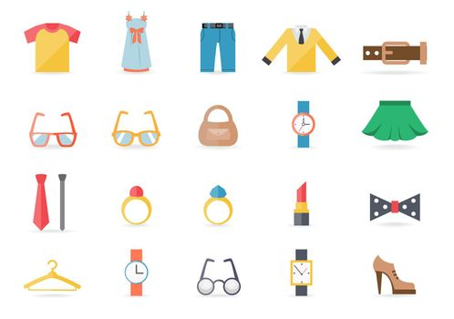 Various Clothing and Accessory Themed Graphics