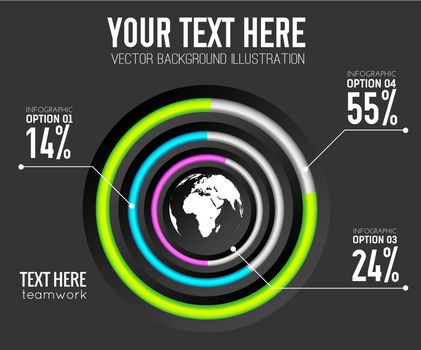 Abstract Web Infographic Template