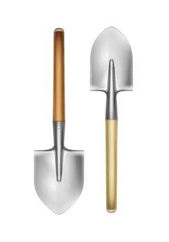Two big shovels