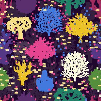 Underwater seamless pattern