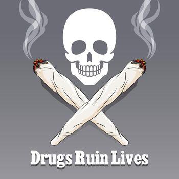 Vector anti drug poster